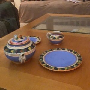 Italian tea set , many other pieces available.
